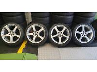 Jaguar Genuine Proteus 18 alloy wheels + 4 x tyres 225 40 18