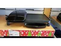 George Foreman 18603 10 Portion Electric Family Health Grill & Griddle - Black (Ex-Display