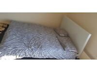 Double bed white with mattress