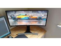 "Samsung WFHD Ultrawide Curved Monitor 29"" (LS29E790CNS)"