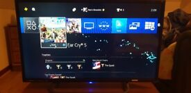Ps4 slim and tv whit 3 games is come evrything in the box
