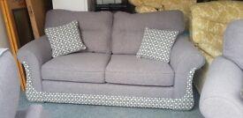 Stunning grey fabric suite