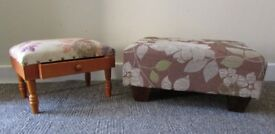 2 footstools vintage style footrest one large and one small DELIVERY WITHIN LE3