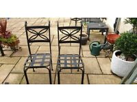 4 metal garden chairs never been used excellent quality