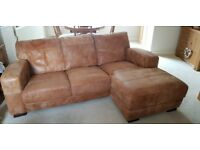 3 seater chaise sofa and 2 seater sofa from dfs.