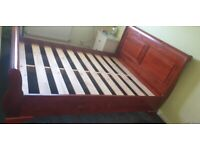 King-size sleigh bed