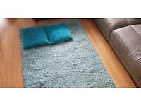 blue rug 1200mm x 1600mm and 2 blue pillows
