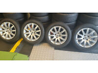 Peugeot Genuine 16 alloy wheels + 4 x tyres 205 55 16 Michelin Cross Climate