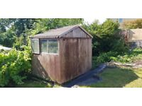 Garden Shed Large 8.5foot x 6.5foot. Ready for collection, dismantled already
