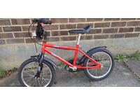 16 inch Urban Racer attractive bike. Great condition