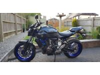Yamaha MT 07 as new only 149 miles