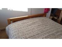 King size solid oak bed
