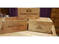 Reclaimed French Wooden Wine & Champagne boxes / Crates