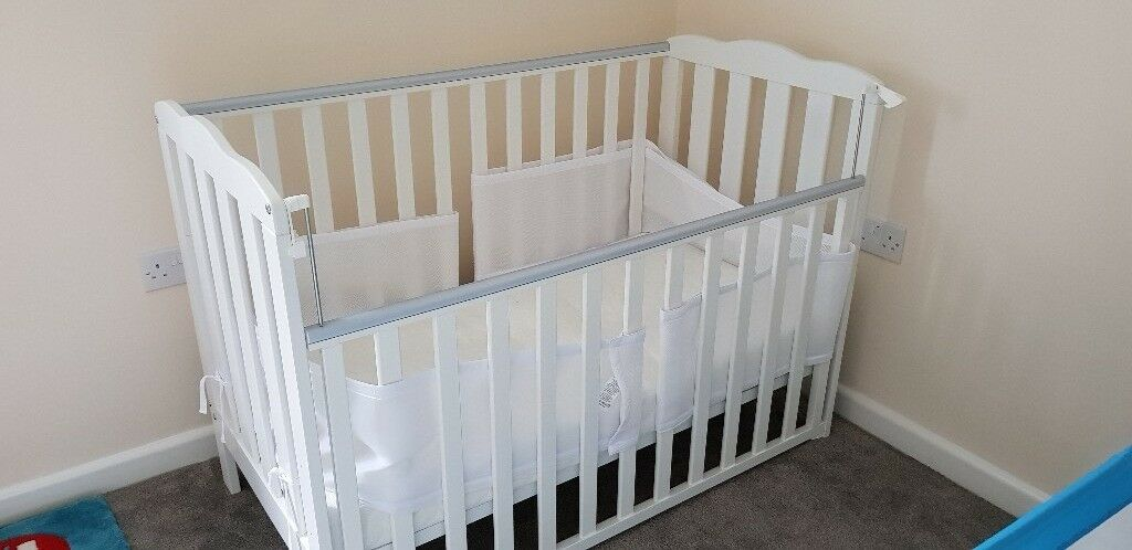 Cot for sale with or without mattress and bumpers. Never been used. Good condition.
