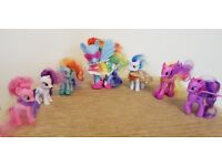 My Little Pony Bundle - 6 Small and 1 Large My Little Pony Ponies, 2 Scooters + Various Accessories