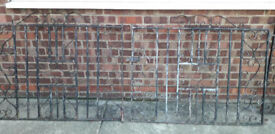 WROUGHT IRON DRIVE GATES AND SIDE GATE