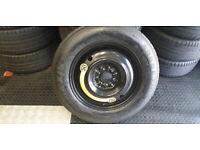 Kia , Hyundai , Mazda , Mitsubishi Space Saver Spare Tyre & Wheel 155 90 R 16