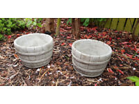 Small Barrel pot garden ornament
