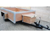 8 X 6 FT GALVANISED STEEL CHASSIS TRAILER - COMPLETELY REFURBISHED
