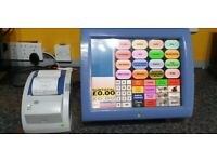 Aures Posligne Odysse Epos System + Fidelity Gpos Software Till Touch Screen 4 Retail Scanning