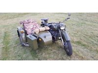 MW 750 Ural Dnepr Cossack Neval 1973 V5 Russian sidecar motorbike 2 WD