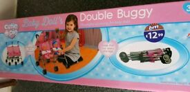Childrens toy unisex double buggy brand new in box