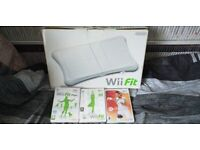 nintendo wii fit board with wii fit and wii fit plus also active persoanl trainer and strap