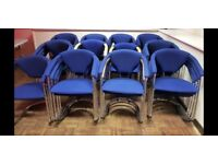 blue padded arm chairs