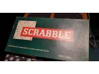 1970s Scrabble set and word book