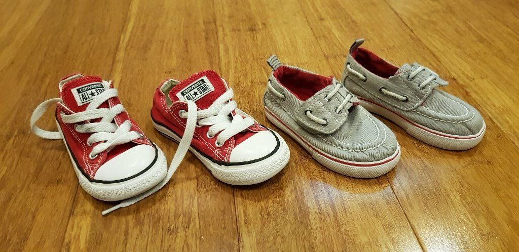 0824674d1cf005 CONVERSE BOYS TRAINERS 2 PAIR SIZE UK 6 AND 7