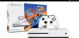Xbox one s with Forza Horizon 3 Hot Wheels edition