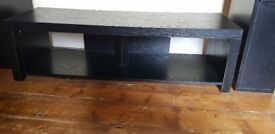 Free black wood effect TV stand