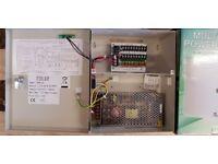 Qvis 9 way power supply unit cctv PSU 9 port psu