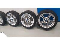 "BMW M-Sport 18"" Alloy wheels without any kurb marks (Bridgestone Potenza tires)"