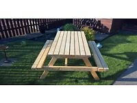 NEW Garden Picnic Bench (Large)