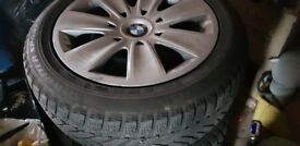 BMW steel wheels with winter tyres