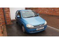 Blue Vauxhall corsa 1.7D