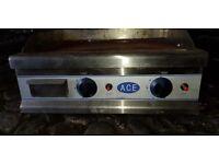 Various commercial kitchen appliances; ACE Griddle, Bain Marie & warm cupboard