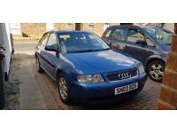 Audi A3 2003 1.9 TDI blue 5 door