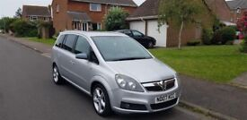 Vauxhall Zafira 1.8l SRI. Great seven seater car NOW SOLD