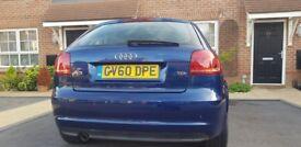 Audi A3 tdi sportback 1.6 diesel. One years MOT