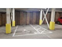 Secure double sizes parking space with fob access & 24hr CCTV