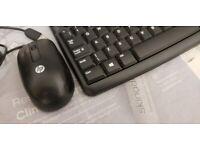 Logiteck keyboard and HP mouse, like new