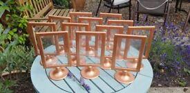 12 x Copper Photo Frames / Menu Holders - Wedding Decorations