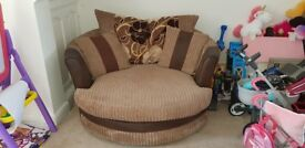 Sofa and swivel chair forsale