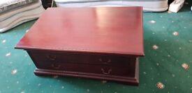 Coffee Table - Mahogany, four drawer