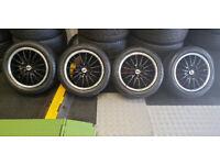 Team Dynamics Motorsport 15 alloy wheels + 4 x tyres 195 50 15 Vauxhall,Ford,Peugeot,Citroen