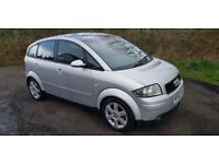 AUDI A2 1.6 FSi **12 MONTHS MOT**Hard to find**£1495 (silver) 2003