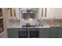 Ex display solid oak vaneer interior kitchen with quartz tops and Neff appliances £6000