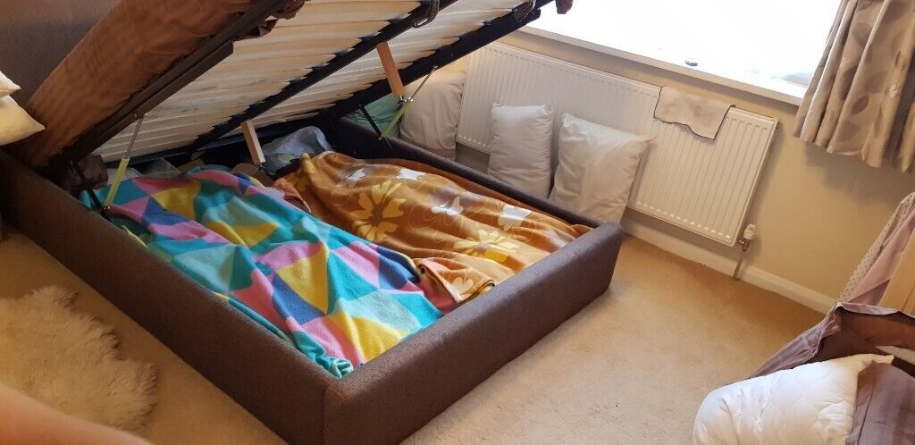 Bed No Mattress High Quality Ottoman King Size Bed Frame In